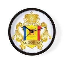 Gold Andorra Wall Clock