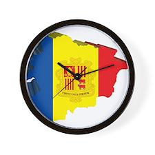 3D Map Of Andorra Wall Clock