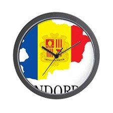 Map Of Andorra Wall Clock