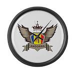 Andorra Emblem Large Wall Clock