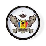 Andorra Emblem Wall Clock