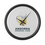 Andorra Drinking Team Large Wall Clock