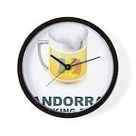 Andorra Drinking Team Wall Clock