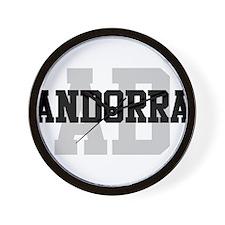 AD Andorra Wall Clock