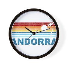 Palm Tree Andorra Wall Clock