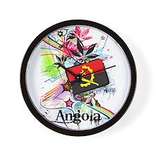 Flower Angola Wall Clock