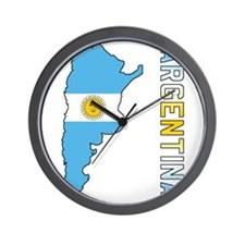 Map Of Argentina Wall Clock
