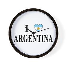I Heart Argentina Wall Clock