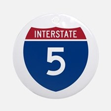 I-5 Highway Ornament (Round)