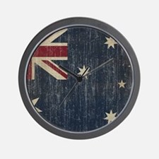 Vintage Australia Flag Wall Clock