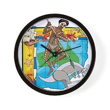Australia Aborigine Wall Clock