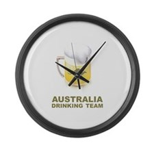 Australia Drinking Team Large Wall Clock