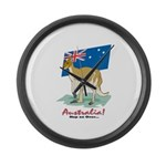 Australia Kangaroo Large Wall Clock