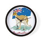 Australia Kangaroo Wall Clock