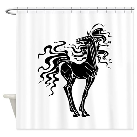 horse shower curtain by graphicdream