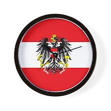 Austria State Flag Wall Clock