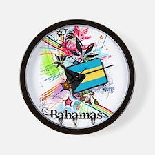 Flower Bahamas Wall Clock