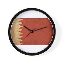 Vintage Bahrain Flag Wall Clock