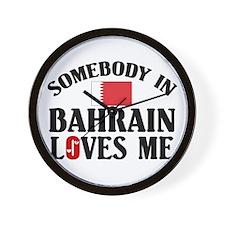 Somebody In Bahrain Wall Clock