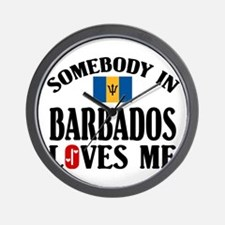 Somebody In Barbados Wall Clock