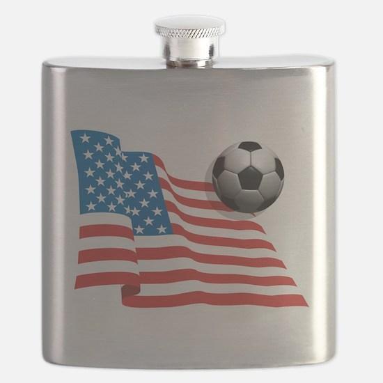 U.S. Soccer Flag Flask