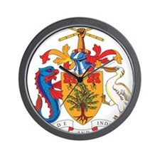 Barbados Coat Of Arms Wall Clock