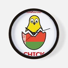 Belarusian Chick Wall Clock