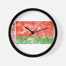 Vintage Belarus Flag Wall Clock