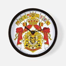 Belgium Coat Of Arms Wall Clock