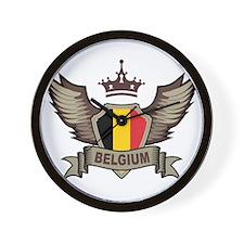 Belgium Emblem Wall Clock