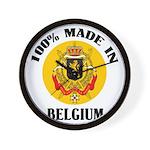 100% Made In Belgium Wall Clock