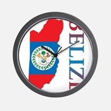 Map Of Belize Wall Clock