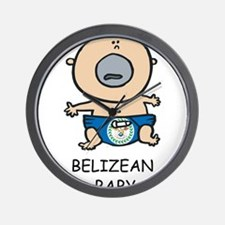Belizean Baby Wall Clock