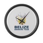 Belize Drinking Team Large Wall Clock