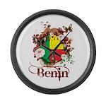 Butterfly Benin Large Wall Clock