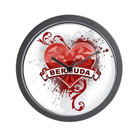 Heart Bermuda Wall Clock