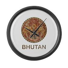 Vintage Bhutan Large Wall Clock