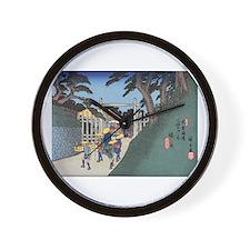 Unique Hiroshige Wall Clock