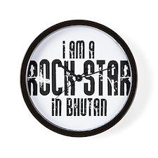 Rock Star In Bhutan Wall Clock