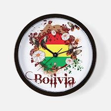 Butterfly Bolivia Wall Clock