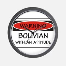 Attitude Bolivian Wall Clock