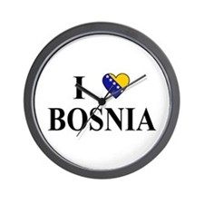 I Love Bosnia Wall Clock