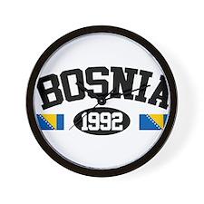 Bosnia 1992 Wall Clock