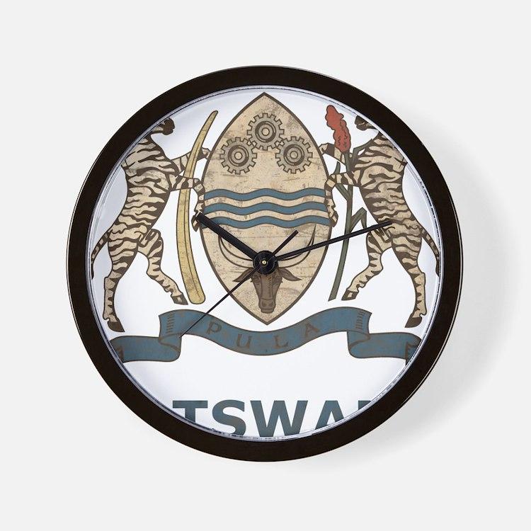 Vintage Botswana Wall Clock