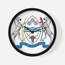 Botswana Coat Of Arms Wall Clock