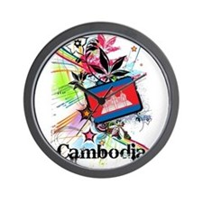Flower Cambodia Wall Clock