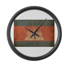 Vintage Cambodia Large Wall Clock