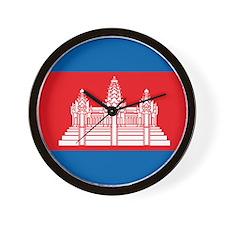 Cambodia Flag Wall Clock