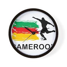 Stylish Cameroon Football Wall Clock