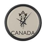 Retro Canada Large Wall Clock